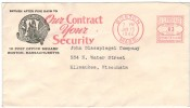 COVER METER STAMP 1942 BOSTON - American Indian Chief - American Indians