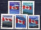 CDN+ Kanada 1989 1990 1991 Mi 1161 1212 1268 1494 Flagge - 1952-.... Elizabeth II