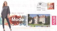 BRD Haibach Infopost FRW Trend Post Blumen 2015 Adler Mode Herbst Frau Bäume - Textil