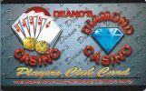 Deano's Casino / Diamond Casino - Montana - Blank Sample Slot Card    ...[RSC][MSC]... - Casino Cards