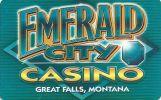 Emerald Casino - Great Falls Montana - Blank Sample Slot Card    ...[RSC][MSC]... - Casino Cards