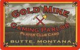 Gold Mine Casino - Butte Montana - Blank Sample Slot Card   ...[RSC][MSC]... - Casino Cards