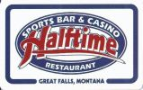 Halftime Sports Bar & Casino - Great Falls Montana - Blank Sample Slot Card    ...[RSC][MSC]... - Casino Cards