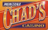 Montana Chad's Casino - Montana - Blank Sample Slot Card   ...[RSC][MSC]... - Casino Cards