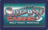Silver Wolf Casino - Wolf Point Montana - Blank Sample Slot Card    ...[RSC][MSC]... - Casino Cards