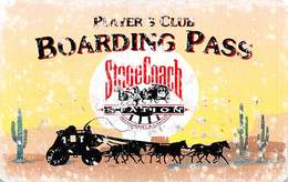 StageCoach Casino - Montana Slot Card  With 65mm Wide Barcode - Casino Cards