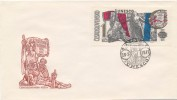 Czechoslovakia / First Day Cover (1971/04) Praha: 100 Anniv. Paris Commune (1871) Painter: Josef Liesler (1912-2005) - Celebrità