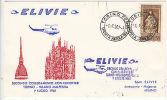 Italy: Secondo Collegamento Con Elicotteri, Torino-Milano Malpenza, 1 July 1961 - Airplanes