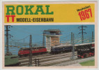 Modell Model Bahn Railway Train Station Line Locomotive Mock Up Catalog Catalogue 1967 Rokal Lobberich - Locomotives
