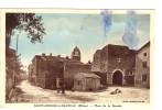 Carte Postale Ancienne Saint Andéol Le Château - Place De La Bascule - Autres Communes