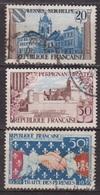 Traité Des Pyrenées - FRANCE - Avesnes Sur Helpe, Le Castillet De Perpignan, Poignée De Mains - 1959 - France