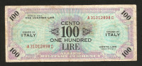 [CC] ITALIA - 100 Lire Allied Military Currency 1943 (BILINGUE) WWII - Occupazione Americana - [ 3] Military Issues