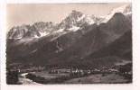 - 74 - LES HOUCHES: Vue Générale Et La Chaîne Du Mont Blanc - Cpsm Cellard Années 50 - - Les Houches