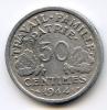 """50 Centimes """"Etat Français""""  Alu 1944   TTB - France"""