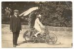 34/ Carte Photo - Concour De Bicyclette De Juillet 1911 A Lamalou Les Bains (trés Beau Plan )RRR - Lamalou Les Bains