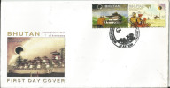 Bhutan First Day Cover 2009, Geography--Total Solar Eclipse , International Year Of Astronomy, As Per Scan, - Geographie