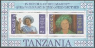 Tanzania. 1985 Life And Times Of Queen Mother. MNH Minature Sheet - Tanzania (1964-...)
