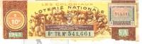 Billet De Loterie Nationale 1943 - Les Coloniaux - Billets De Loterie