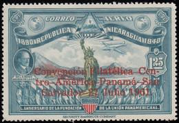 "NICARAGUA - Scott #C493 The 1st Central American Philatelic Convention, San Salvador ""Overprinted"" / Mint H - Nicaragua"