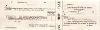 Fiscal, Fiscaux, Taxe Municipale Sur Les Chiens (loi Du 2 Mai 1855) Vierge Avec Son Talon, Voir Détail Au Dos - Fiscaux