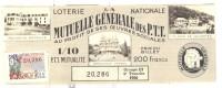 Billet Loterie Nationale - La Mutuelle Générale Des P.T.T - 1956 - Billets De Loterie