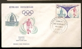 Central African Republic  & FDC Prinstein, Triplo Salto, Saint Louis, Jogos Olímpicos 19004, Bangui 1972 (112)