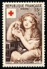 FRANCE 1954 - Yv. 1007 *   Cote= 10,00 EUR - Croix-Rouge. Jeune Fille Aux Colombes, Par Greuze ..Réf.FRA28296 - France