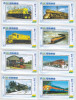 CHINA. 8 PHONECARDS THEME ´´ TRAINS ´´ L01 - Trains