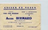 CARTE VISITE CYCLES ET MOTOS ALEXIS BERNARD PLACE DU MARCHE AU BOIS  GUERANDE - Cartes De Visite