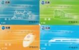 CHINA. 4 PHONECARDS THEME   ´´ TRAINS ´´L05 - Trains