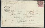 GRANDE BRETAGNE - Lettre ( Avec Texte ) Pour La France En 1859 - A Voir - Lot P12888 - Lettres & Documents