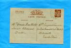 MARCOPHILIE-Guerre 39-45-carte Inter Zone -iris 0.90-cad Hexagonal -CHAMESOL-avril 1941-pour Marseille - Oorlog 1939-45