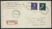 BELGIQUE - Enveloppe En Recommandée Pour Les U.S.A. En 1947 - A Voir - Lot P12896 - Belgium