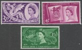 Great Britain. 1958 Sixth British Empire And Commonwealth Games. MH Complete Set. SG 567-569 - 1952-.... (Elizabeth II)