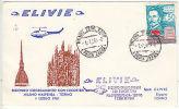 Italy: Secondo Collegamento Con Elicotteri, Milano Malpenze-Torino, 1 July 1961 - Airplanes