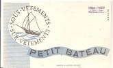 Buvard PETIT BATEAU Sous Vêtements Sur Vêtements Offert Par Edouard SCHIEBER 6, Passage Du Théâtre à MULHOUSE - Textile & Vestimentaire