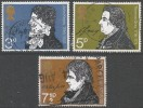Great Britain. 1971 Literary Anniversaries.  Used Complete Set. SG 884-6 - Used Stamps