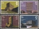 Great Britain. 1971 British Architecture. Modern University Buildings.  Used Complete Set. SG 890-893 - 1952-.... (Elizabeth II)
