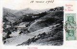 "St. Helena  post card "" censor "" circull� 1902   2 timbre de1/2  vert    vieu of  Ridges"