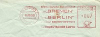 Firma Cover Norddeutscher Lloyd Freistempel JTS BREMEN Mit Ms BERLIN New York - Boten