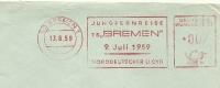Firma Cover Norddeutscher Lloyd Freistempel Jungfernreise TS BREMEN 9/7/1979 - Boten