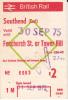 BIGLIETTO FERROVIA BRITISH RAIL 1975 - Spoorwegen