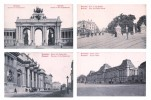 Lot Série De 4 Cartes CPA De BRUXELLES BRUSSELS - TTBE Cartes Vierges - Belgique