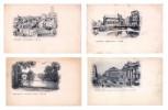 Lot Série De 4 Cartes CPA De BRUXELLES BRUSSELS -  Cartes Vierges - Belgique