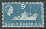Falkland Dépendance : Georgie Du Sud N ° 17 XX Partie De Série : 9 P. Bleu, Sans Charnière, TB - Géorgie Du Sud
