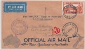 1934 LETTRE . COVER OFFICIAL AIR MAIL NEW ZELAND-AUSTRALIA. PER VH-UXX FAITH IN AUSTRALIA. TRANS-TASMAN  / 6175 - Avions