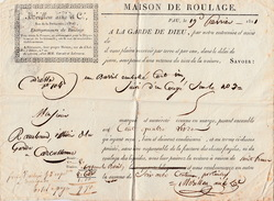 1821  MAISON DE ROULAGE MERILLON AÎNÉ à PAU PYRENEES ATLANTIQUES / 6231 - 1801-1848: Precursores XIX