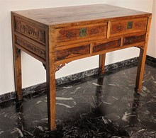 CINA (China): Old And Fine Chinese Carved Wood Table Desk - Arte Orientale