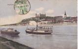 POSTAL DE UN BARCO DE VAPOR EN POZSONY DEL AÑO 1913 (BARCO-SHIP) - Comercio