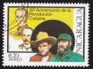 NICARAGUA - Scott #C1161 Cuban Revolution, 30th Anniversary / Used Stamp - Nicaragua